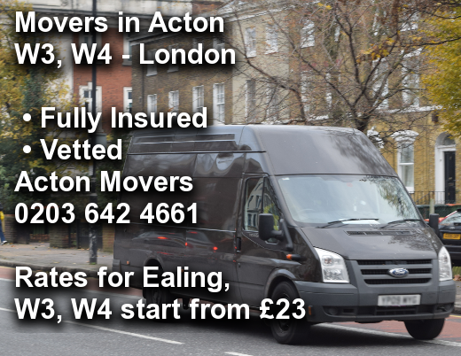 Movers in Acton W3, W4, Ealing
