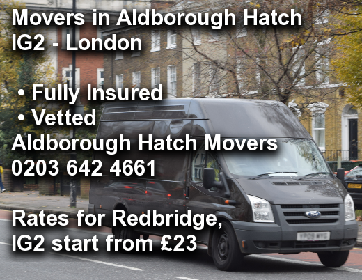 Movers in Aldborough Hatch IG2, Redbridge