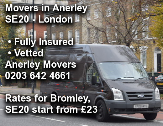Movers in Anerley SE20, Bromley