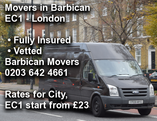 Movers in Barbican EC1, City