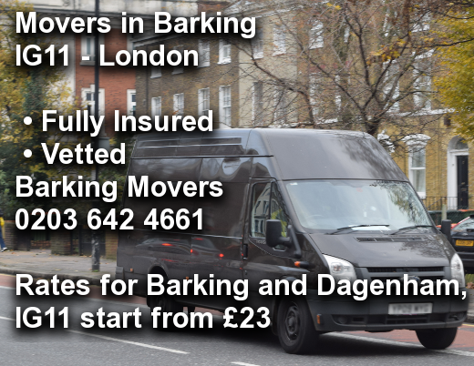 Movers in Barking IG11, Barking and Dagenham