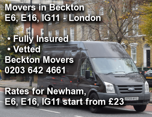 Movers in Beckton E6, E16, IG11, Newham