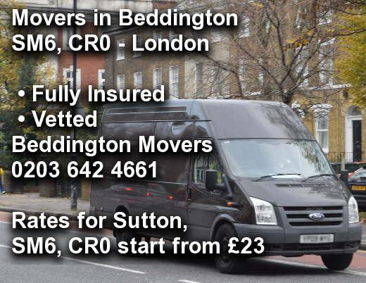 Movers in Beddington SM6, CR0, Sutton