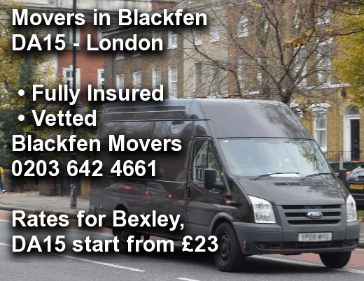 Movers in Blackfen DA15, Bexley