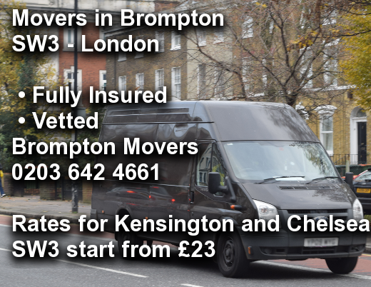 Movers in Brompton SW3, Kensington and Chelsea