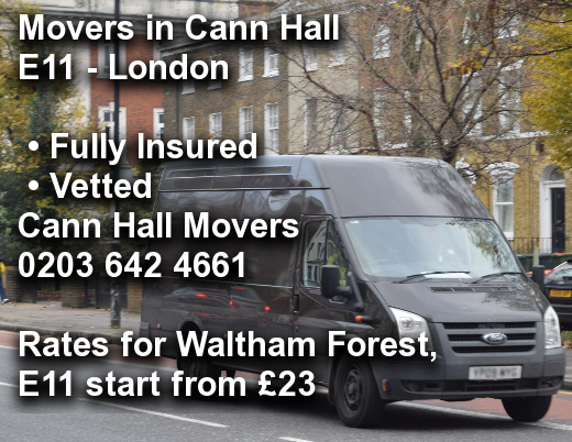 Movers in Cann Hall E11, Waltham Forest