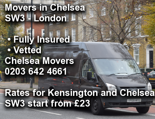 Movers in Chelsea SW3, Kensington and Chelsea