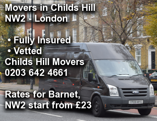Movers in Childs Hill NW2, Barnet