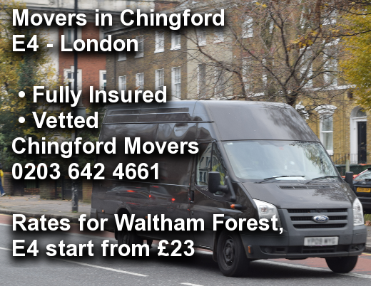 Movers in Chingford E4, Waltham Forest