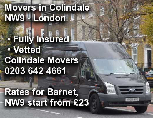 Movers in Colindale NW9, Barnet