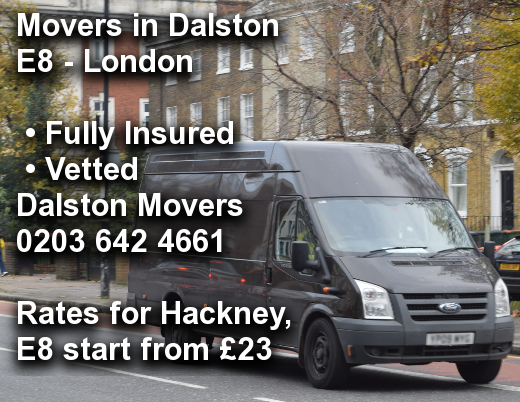 Movers in Dalston E8, Hackney