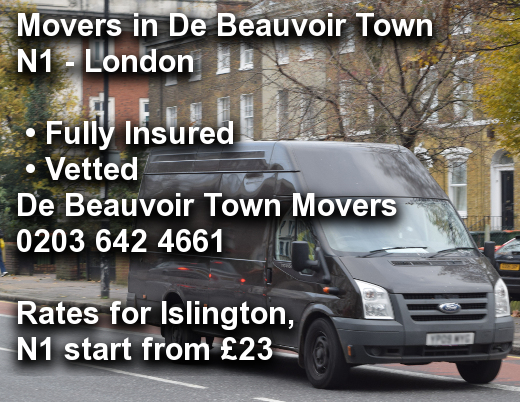 Movers in De Beauvoir Town N1, Islington