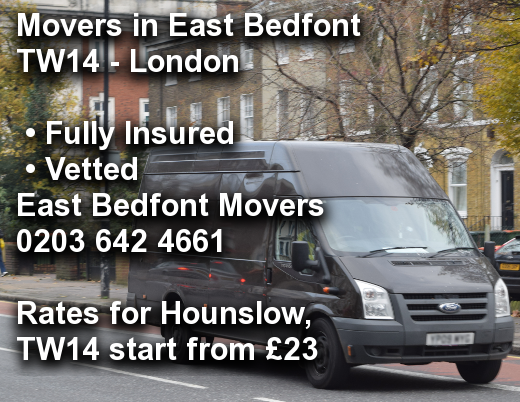 Movers in East Bedfont TW14, Hounslow