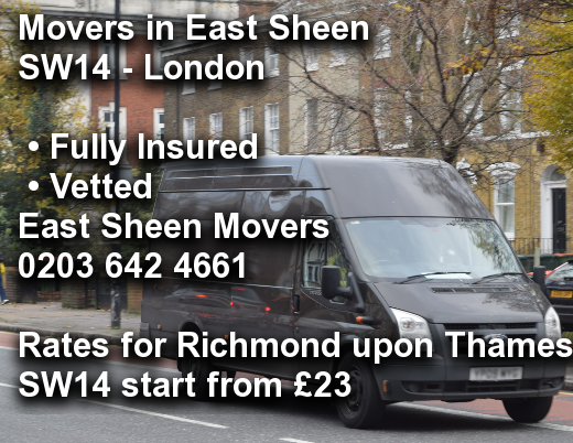 Movers in East Sheen SW14, Richmond upon Thames