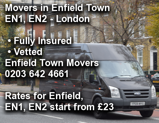 Movers in Enfield Town EN1, EN2, Enfield