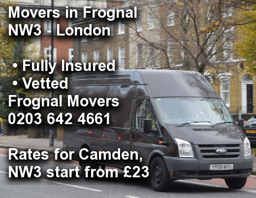 Movers in Frognal NW3, Camden
