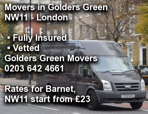 Movers in Golders Green NW11, Barnet