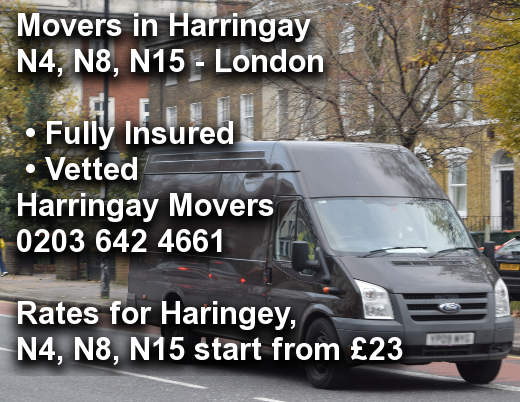 Movers in Harringay N4, N8, N15, Haringey