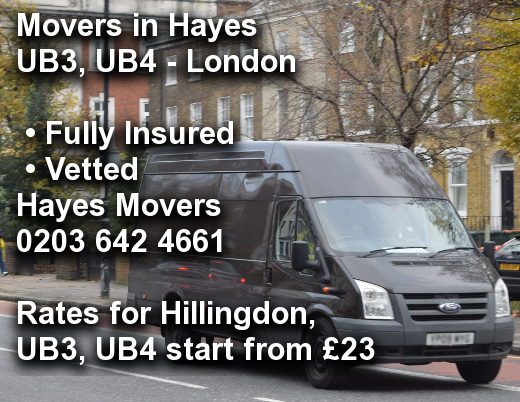 Movers in Hayes BR2, Bromley