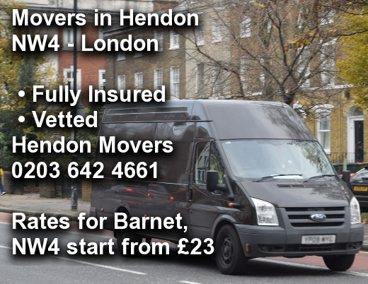 Movers in Hendon NW4, Barnet