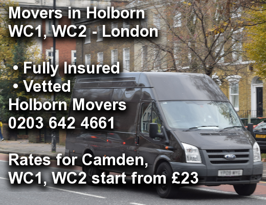 Movers in Holborn WC1, WC2, Camden