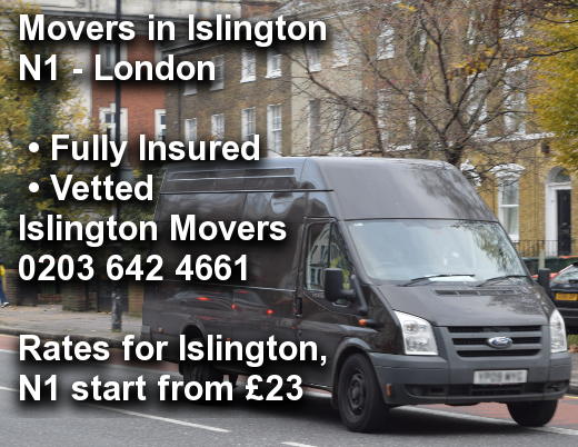 Movers in Islington N1, Islington