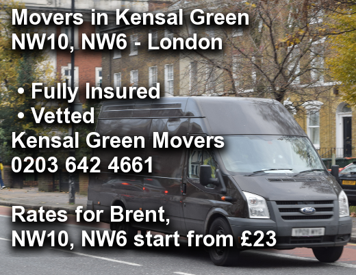 Movers in Kensal Green NW10, NW6, Brent
