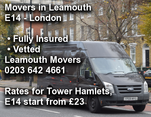 Movers in Leamouth E14, Tower Hamlets