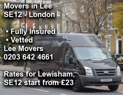 Movers in Lee SE12, Lewisham