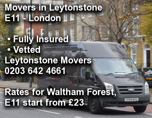 Movers in Leytonstone E11, Waltham Forest