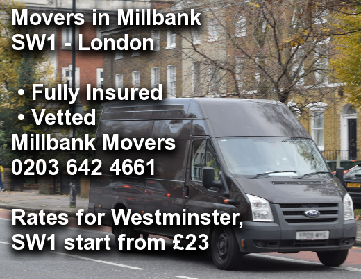 Movers in Millbank SW1, Westminster