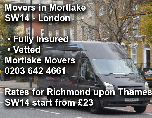 Movers in Mortlake SW14, Richmond upon Thames