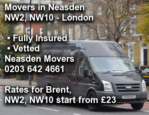Movers in Neasden NW2, NW10, Brent