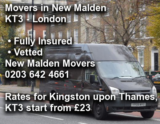 Movers in New Malden KT3, Kingston upon Thames