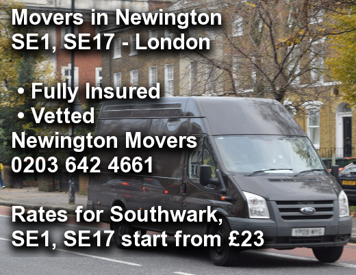 Movers in Newington SE1, SE17, Southwark