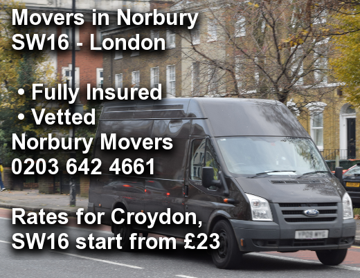 Movers in Norbury SW16, Croydon