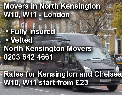 Movers in North Kensington W10, W11, Kensington and Chelsea
