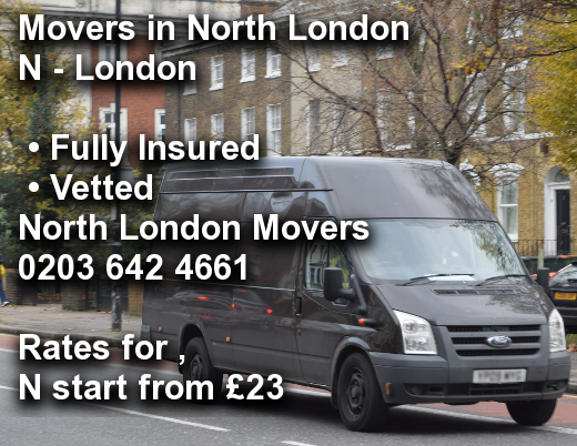 Movers in North London N,