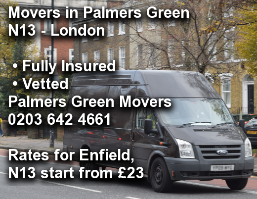 Movers in Palmers Green N13, Enfield