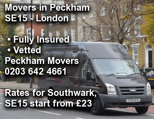 Movers in Peckham SE15, Southwark