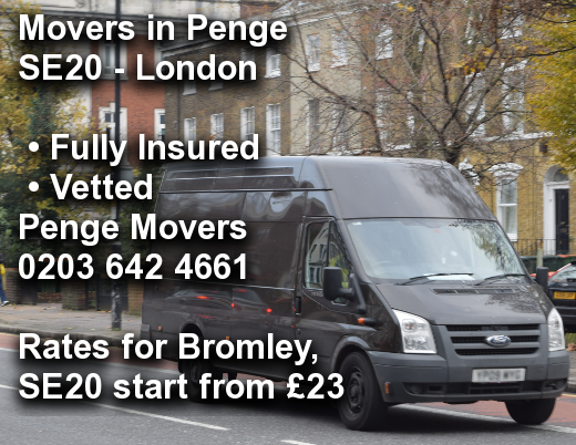 Movers in Penge SE20, Bromley