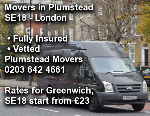Movers in Plumstead SE18, Greenwich
