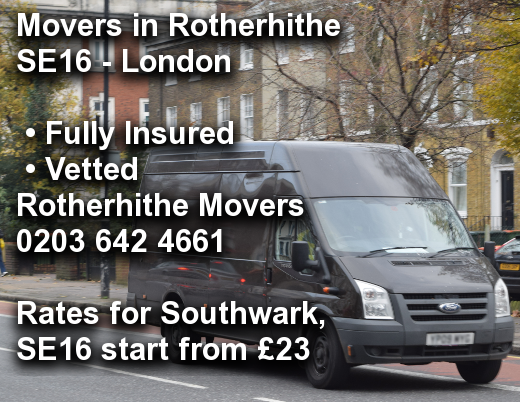 Movers in Rotherhithe SE16, Southwark