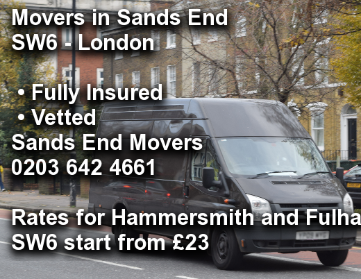 Movers in Sands End SW6, Hammersmith and Fulham