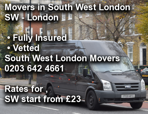 Movers in South West London SW,