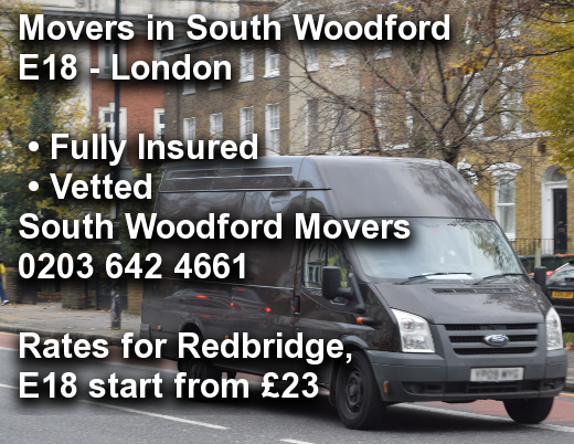 Movers in South Woodford E18, Redbridge
