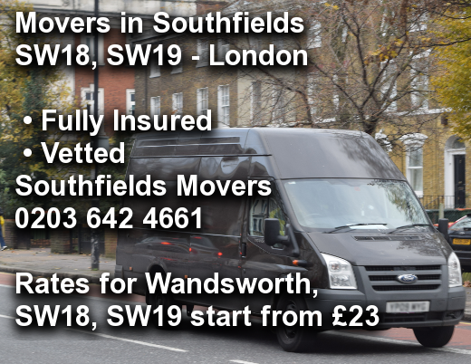 Movers in Southfields SW18, SW19, Wandsworth