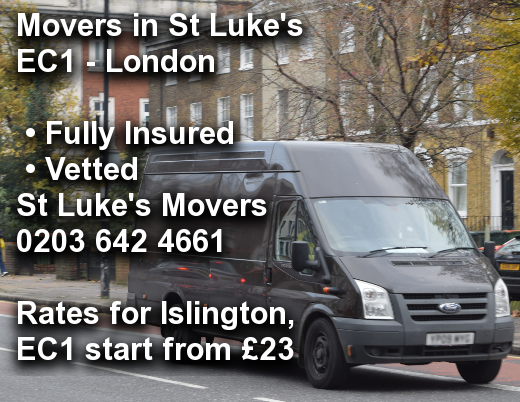 Movers in St Luke's EC1, Islington