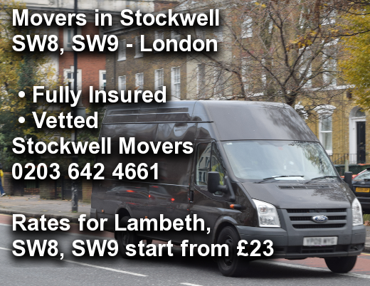 Movers in Stockwell SW8, SW9, Lambeth