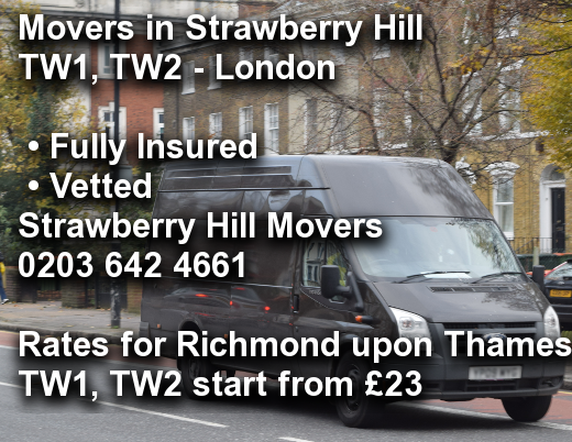 Movers in Strawberry Hill TW1, TW2, Richmond upon Thames